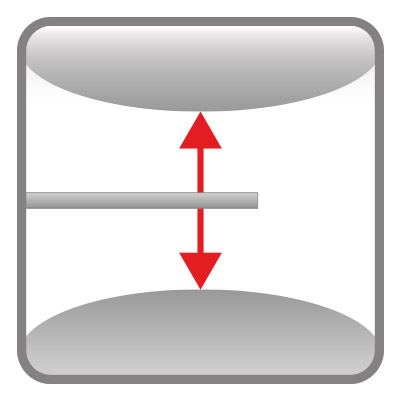 Double-sided gap measurement on curved surfaces